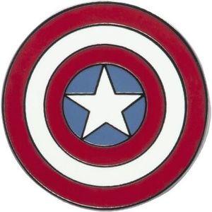 Captain America Schild Odznak cervená/bílá/modrá