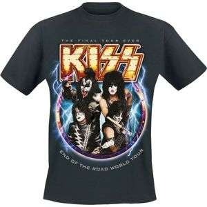 Kiss End Of The Road World Tour tricko černá