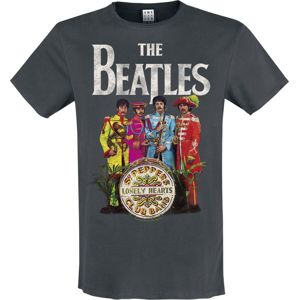 The Beatles Amplified Collection - Lonely Hearts tricko charcoal