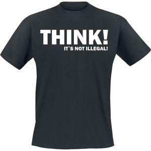 THINK! It`s Not Illegal! tricko černá
