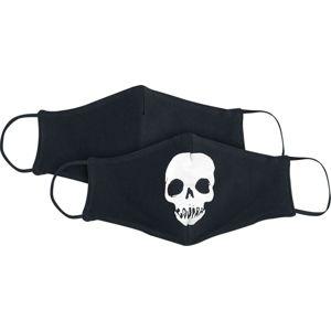 Gojira Skull Logo Face maska cerná/bílá