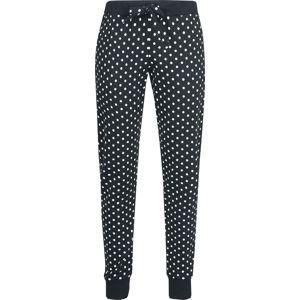 Pussy Deluxe Tečkované dívčí kalhoty Dívčí tepláky černá