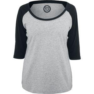 RED by EMP 3/4 Contrast Raglan Tee dívcí triko s dlouhými rukávy šedá/cerná