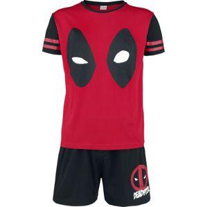 Deadpool Face pyžama cerná/cervená