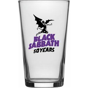 Black Sabbath 50 Years Hrnek s potiskem transparentní