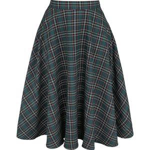 Hell Bunny Sukně Peebles sukne zelená