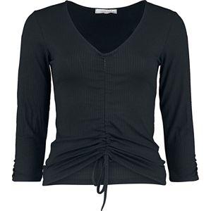 Hailys Angelique dívcí triko s dlouhými rukávy černá