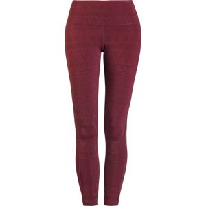RED by EMP Sport und Yoga - rote Leggings mit Alloverprint Leginy bordová