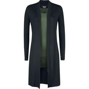 Black Premium by EMP Dlouhý černý kardigan a zelený top Black Premium Dívčí svetr cerná/olivová