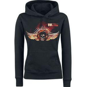 Volbeat Burning Skullwing dívcí mikina s kapucí černá