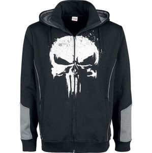 The Punisher Punisher mikina s kapucí na zip cerná/šedá