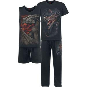 Spiral Breaking Out pyžama černá