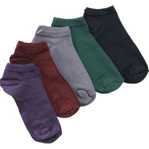JUST 5er Pack Sneaker Socks Ponožky vícebarevný