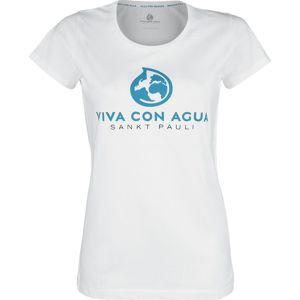 Viva Con Agua Tričko Logo dívcí tricko bílá
