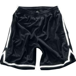 Urban Classics Stripes Mesh Shorts Kraťasy cerná/bílá