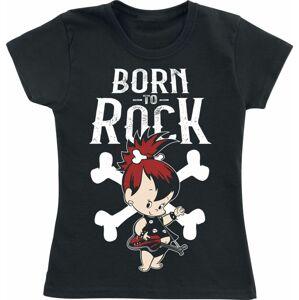 The Flintstones Born To Rock detské tricko černá