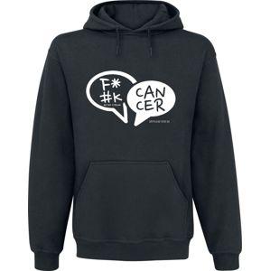 Fuck Cancer by Myriam von M F*#K CANCER Mikina s kapucí černá