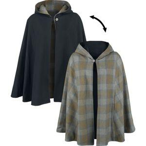 Outlander Oboustranný plédový plášť ponco vícebarevný