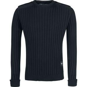 Black Premium by EMP You And Whose Army? Pletený svetr černá