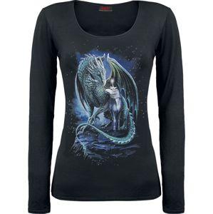 Spiral Protector Of Magic dívcí triko s dlouhými rukávy černá