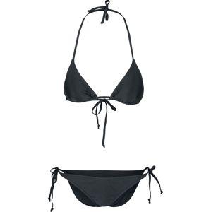 Urban Classics Dámské trojuhelníkové bikiny se zavazováním na bocích bikini černá