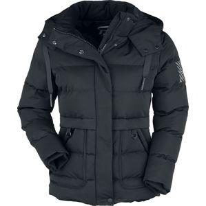 RED by EMP Černá zimní bunda s prošíváním dívcí bunda černá