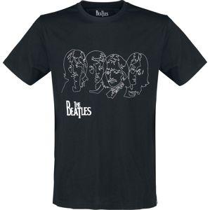 The Beatles Lines tricko černá