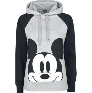 Mickey & Minnie Mouse dívcí mikina s kapucí světlešedá melírovaná/čierna