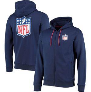 NFL NFL Logo mikina s kapucí na zip námořnická modrá