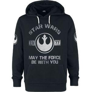 Star Wars 1977 - May The Force Be With You mikina s kapucí prošedivelá