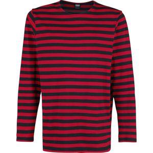 Urban Classics Proužkované tričko s dlouhými rukávy tricko s dlouhým rukávem cervená/cerná