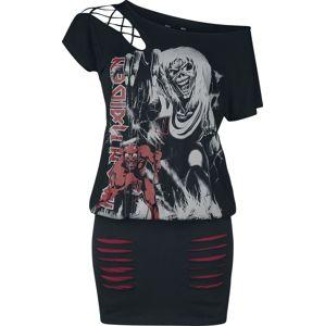 Iron Maiden EMP Signature Collection šaty černá / tmavě červená