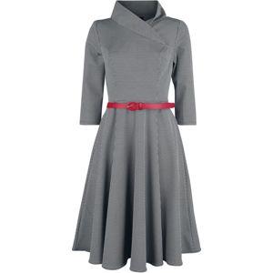 H&R London Šaty Preppy šaty cerná/bílá