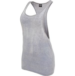 Urban Classics Ladies Loose Burnout Tanktop dívcí top šedá/modrá