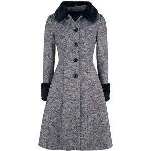 Voodoo Vixen Dlouhý kabát Louisa May Stone Dívcí kabát šedá