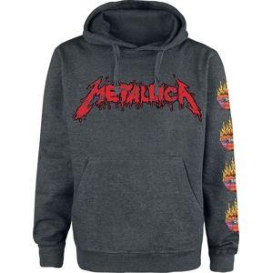 Metallica Flower Skull mikina s kapucí prošedivelá