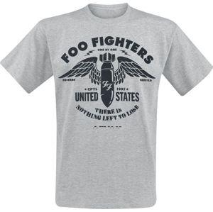 Foo Fighters Stencil tricko smíšená svetle šedá