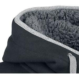 Black Premium by EMP Teddy Hoodie mikina s kapucí cerná/šedá