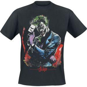 Batman Joker - Dealing The Bat Card tricko černá