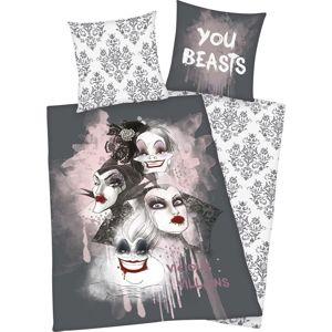 Disney Villains You Beasts Ložní prádlo cerná/bílá