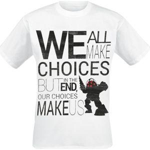 BioShock Big Daddy - We All Make Choices tricko bílá