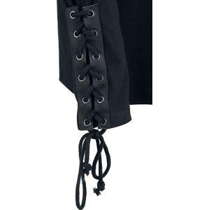 Banned Alternative Laced Sleeve tricko s dlouhým rukávem černá