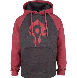 World Of Warcraft Horde mikina s kapucí cerná/cervená