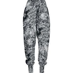 Urban Classics Dámské sarong kalhoty Dívčí kalhoty cerná/bílá