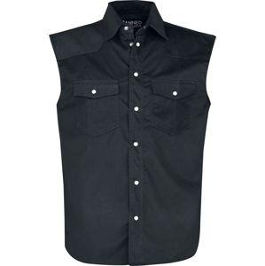 Banned Alternative Košile Fonze košile bez rukávu černá
