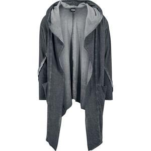 Urban Classics Cold Dye Hooded Cardigan Cardigan tmavě šedá