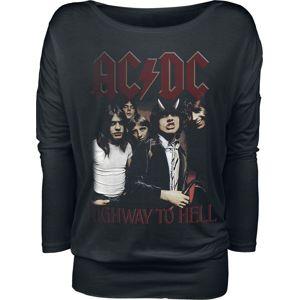 AC/DC Highway To Hell dívcí triko s dlouhými rukávy černá