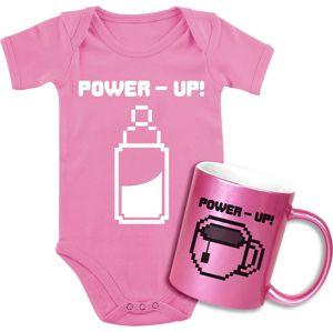 Giftbox - dárková sada Babybody + Tasse Power Up! Baby sada vícebarevný