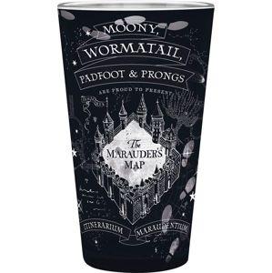 Harry Potter Marauder's Map sklenicka černá