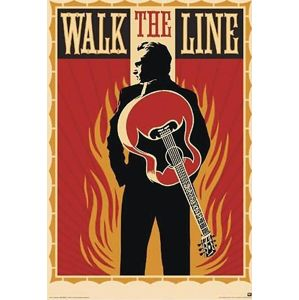 Johnny Cash Walk The Line plakát standard